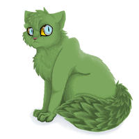 Green cat by Baka-Kat