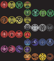 Kamen Rider OOOs all combos and medals by Justin-Campbell