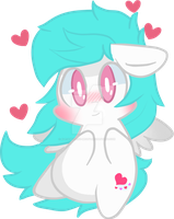 Cotton Heart Chibi by AlejaMoreno-Brony