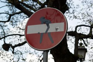 Italian one way sign by Imivai