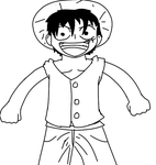 Luffy Doodle by ifreakinglovegames