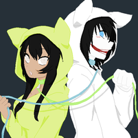 The Lovely Dead And Jeff The Killer by Lolita64