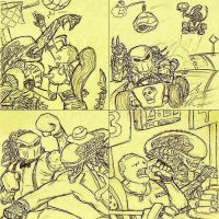 AvP post-it collage by EscoZG