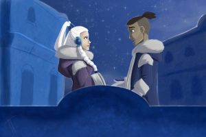 Sokka and Yue by blindbandit5