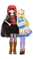 MMD cerise and blondie+DL by frede15
