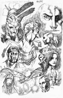 Mass Effect Fan Pencils by Anmph