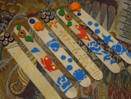 Fimo Bookmarks by REDDISH-MUSE