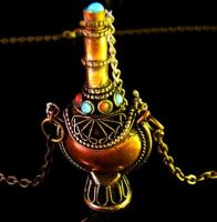 Copper Snuff Bottle Necklace by Om-Society