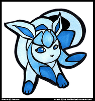 Glaceon by CritterKat