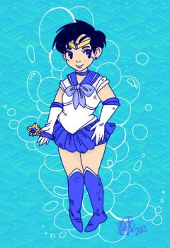 Sailor Mercury by RetroSociety
