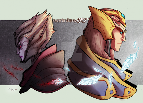 DOTA 2 - It was all I could give you, Sweet Spirit by mortinfamiART