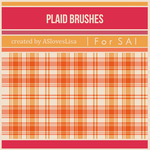 [For SAI] Plaid Brushes by ASlovesLisa