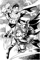 supes batman 1st art 2011 by gammaknight