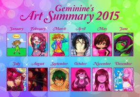 Geminine's Art Summary 2015 by Geminine-nyan