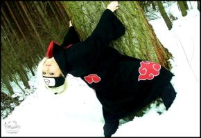 Deidara: In the snow by YakuzaProduction