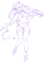 Bee and Puppycat (Uncolored) by DarkMewMewSun