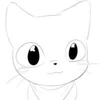 Meow icon sketch by Orekku