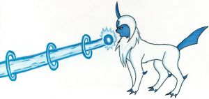 Absol used ICE BEAM by Pastel-Circus