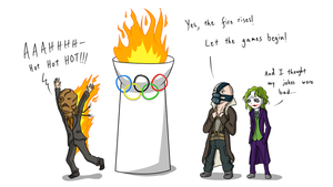 Olympics at Gotham by Sarcallow