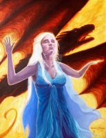 Khaleesi and one dragon by Wideen