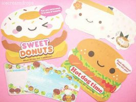 Kawaii Foods Stationery by icecreamdrops