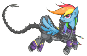 Ministry Mare Rainbow Dash - Shadowbolt Version by whispir