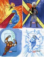 marvel Universe sketch cards4 by TomKellyART
