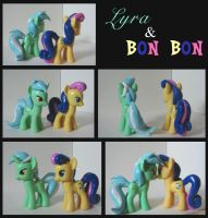 Lyra and Bon Bon customs by MLPEndlessNight