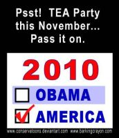 TEA Party in November by Conservatoons