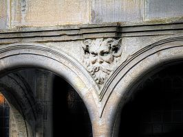 face on the wall by awjay