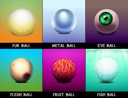 Painting Study: Balls by lkrecic