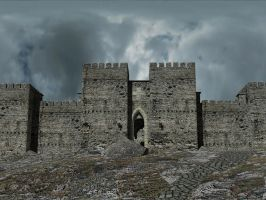 Crusader castle, approach by LordGood