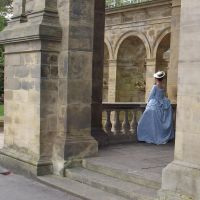 Marie Antionette blue gown by Hathaways