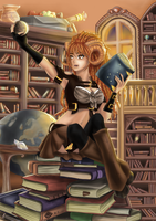 All day in the library.. by OrnellaArts