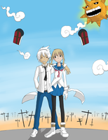 Maka and Soul by S-J-B