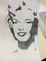 Marilyn Monroe in the style of andy warhol by Totalmangaka