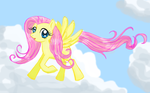 Fluttershy fly! touch up by SilentWitch7