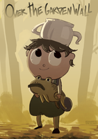 Over the garden wall - Gregory and his pet frog by AtomicKitten13