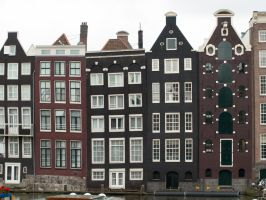 STOCK Houses in Amsterdam by Inilein