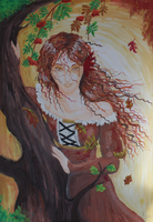 Lady in Autumn by SoleiBee