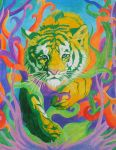 Fun With Colors - Yellow Tiger by WindSong83