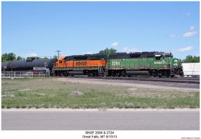 BNSF 2084 + 2724 by hunter1828