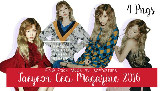 Taeyeon Ceci Magazine 2016 PNG Pack August by soshistars