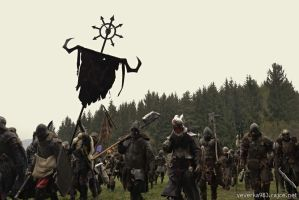 Our Warriors of Chaos - Warhammer LARP battle by Krushak-Dagra