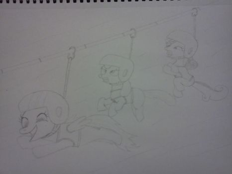 Cutie Mark Crusaders Zip liners by finalsight618