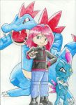 Kamon/Silver Sneasel And Feraligatr Traditional by Destiny-The-Hedgimon