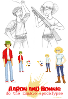 Aaron and Bonnie game sprites by LOBrien