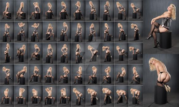 Stock: Ivy Lee Corset Stockings Strip - 52 Images by stockphotosource