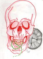 A skull by Nyan-the-Reaper