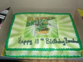 Green Ninja Birthday Cake by SupernaturalSpirit15